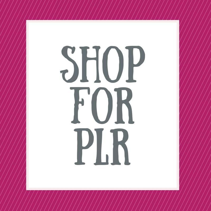 Shop For PLR