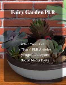 Fairy Garden PLR