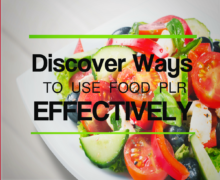 DiscoverWaysToUseFoodPLREffectively