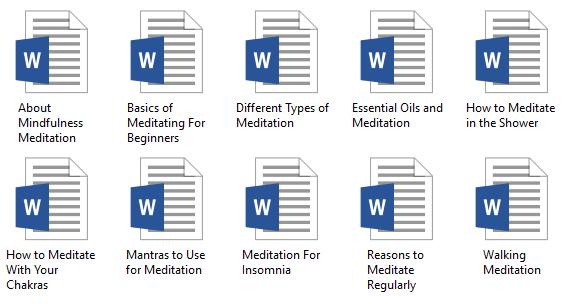 10 Meditation PLR Articles