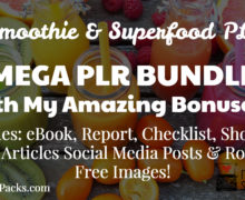 MEGA Smoothie & Superfood PLR Bundle with High-Quality Pre-Written Content