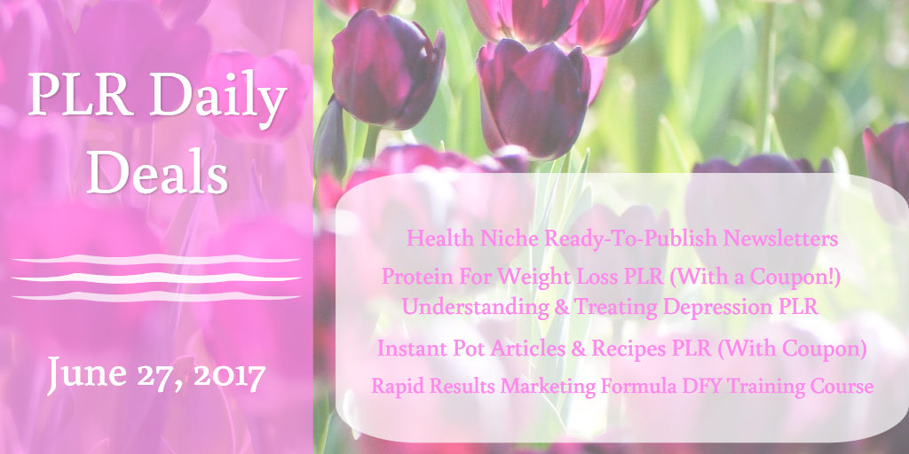 PLR Daily Deals - Check Them Out!