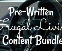 DFY Frugal Living Content Bundle