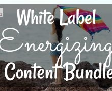 Energizing Yourself Content Bundle
