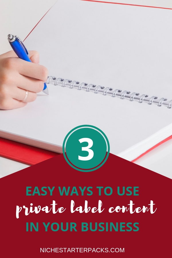 WAYS TO USE PRIVATE LABEL RIGHTS