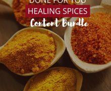 DFY Healing Spices Content Bundle
