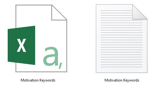 Motivation Keyword Research