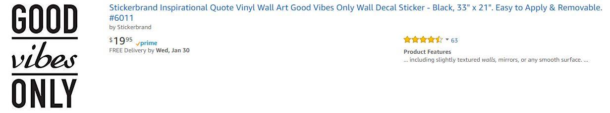 Motivational Wall Decal Amazon