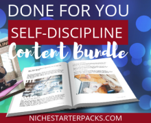 Self-DisciplinePLRBlogPost