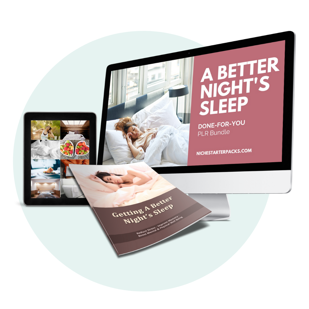 Done-For-You A Better Night's Sleep PLR - Mockup