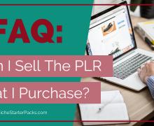 FAQ_Sell The PLR